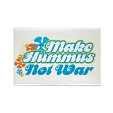 Make Hummus Not War Rectangle Magnet