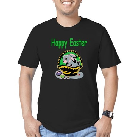 Happy Easter Basket Men's Fitted T-Shirt (dark)