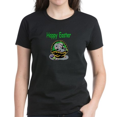 Happy Easter Basket Women's Dark T-Shirt