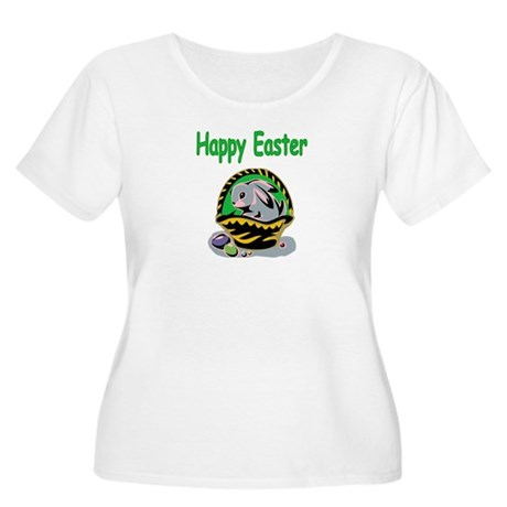 Happy Easter Basket Women's Plus Size Scoop Neck T