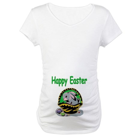 Happy Easter Basket Maternity T-Shirt