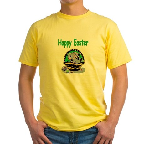 Happy Easter Basket Yellow T-Shirt