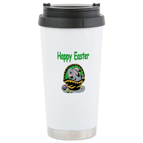 Happy Easter Basket Ceramic Travel Mug