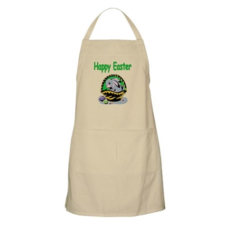 Happy Easter Basket BBQ Apron