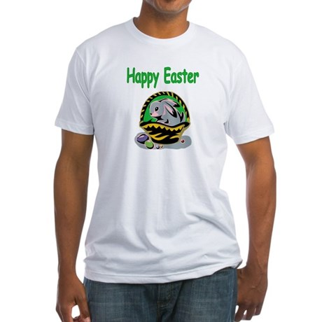 Happy Easter Basket Fitted T-Shirt