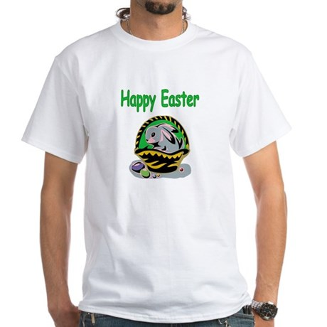 Happy Easter Basket White T-Shirt