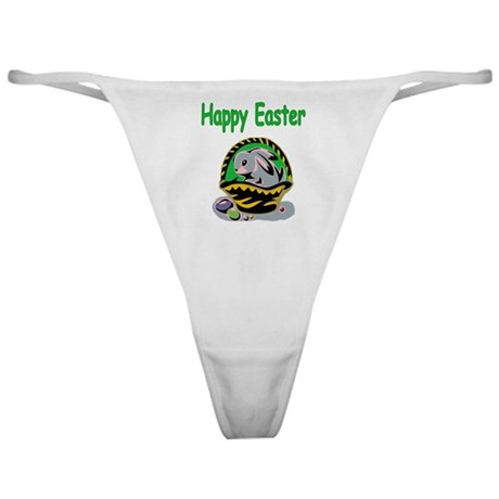Happy Easter Basket Classic Thong