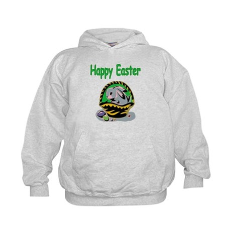 Happy Easter Basket Kids Hoodie