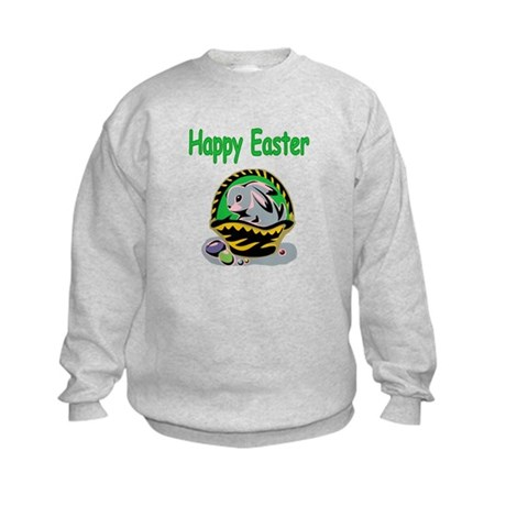 Happy Easter Basket Kids Sweatshirt