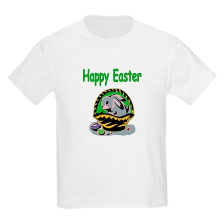Happy Easter Basket Kids Light T-Shirt