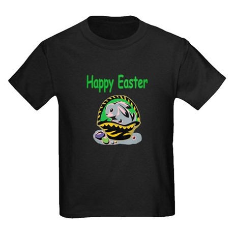 Happy Easter Basket Kids Dark T-Shirt