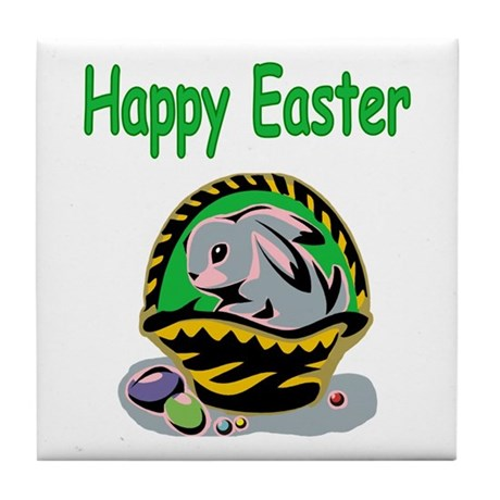 Happy Easter Basket Tile Coaster