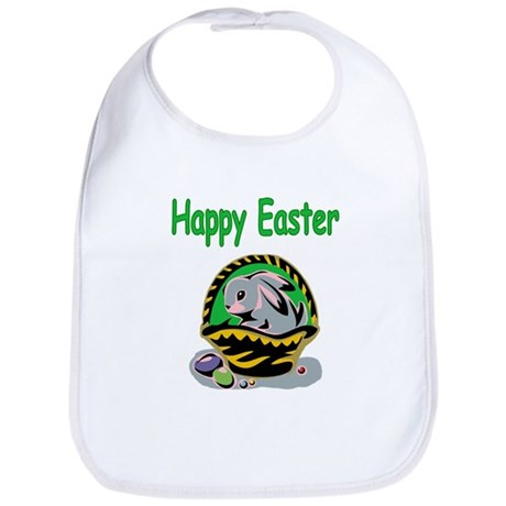 Happy Easter Basket Bib