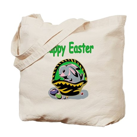 Happy Easter Basket Tote Bag