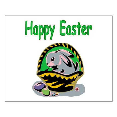 Happy Easter Basket Small Poster