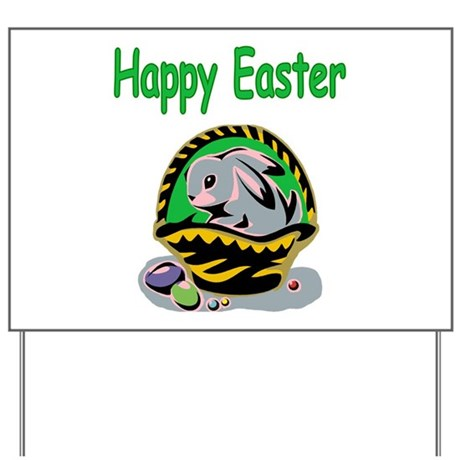 Happy Easter Basket Yard Sign