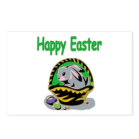Happy Easter Basket Postcards (Package of 8)