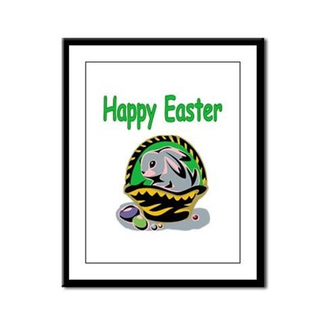 Happy Easter Basket Framed Panel Print