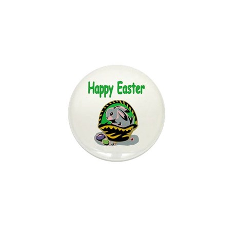 Happy Easter Basket Mini Button