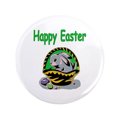 "Happy Easter Basket 3.5"" Button"
