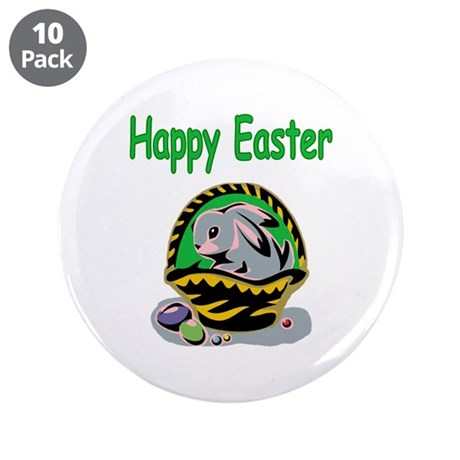 "Happy Easter Basket 3.5"" Button (10 pack)"