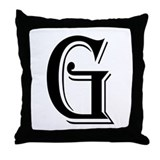"""Algerian - Letter G"" Throw Pillow"