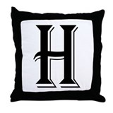 """Algerian - Letter H"" Throw Pillow"