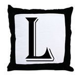"""Algerian - Letter L"" Throw Pillow"