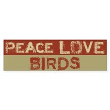 Peace Love Birds Bumper Car Sticker