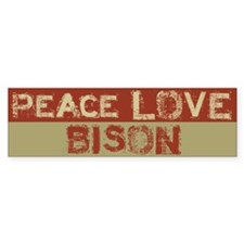 Peace Love Bison Bumper Bumper Sticker