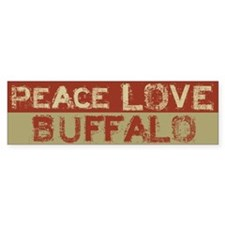 Peace Love Buffalo Bumper Bumper Sticker