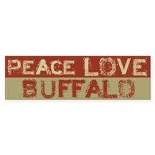 Peace Love Buffalo Bumper Bumper Stickers