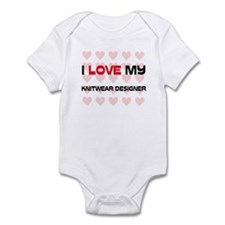 I Love My Knitwear Designer Infant Bodysuit