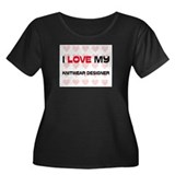 I Love My Knitwear Designer Women's Plus Size Scoo