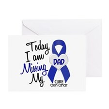 Missing My Dad 1 CC Greeting Cards (Pk of 20)