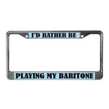 Fun Baritone Music License Plate Frame