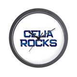 celia rocks Wall Clock