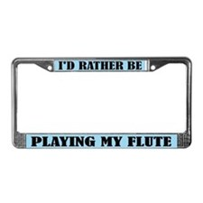 Play Flute License Plate Frame