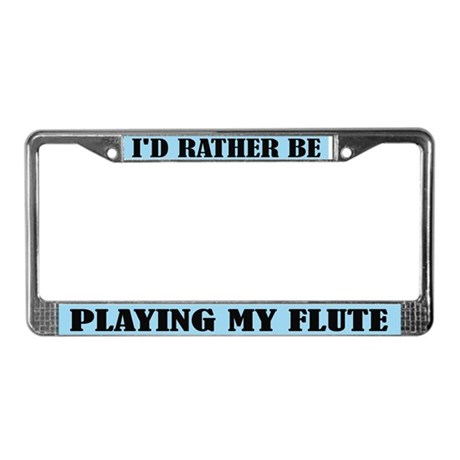Play Flute License Plate Frame