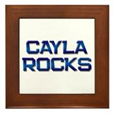 cayla rocks Framed Tile