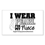 IWearPearl Niece Rectangle Decal