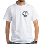 White Front/Back Logo T-Shirt