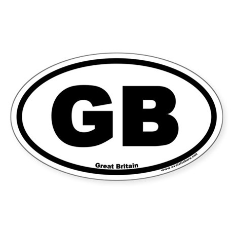 Great Britain GB Euro Oval Sticker