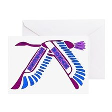 Strong Woman Flying Greeting Card