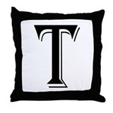 """Algerian - Letter T"" Throw Pillow"