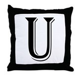 """Algerian - Letter U"" Throw Pillow"