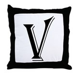"""Algerian - Letter V"" Throw Pillow"