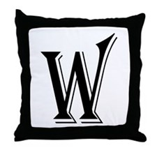 """Algerian - Letter W"" Throw Pillow"