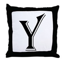 """Algerian - Letter Y"" Throw Pillow"