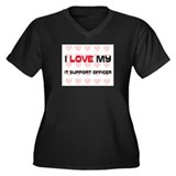 I Love My It Support Officer Women's Plus Size V-N